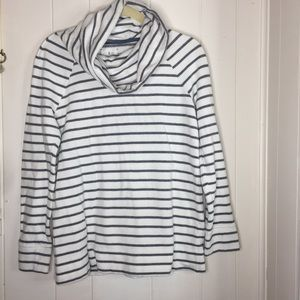 Lou and Grey cowl neck stripped sweater size Small